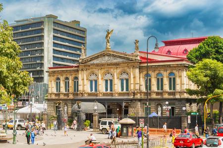 サンノゼ、コスタリカ - 2016 年 11 月 10 日: コスタリカの国立劇場。それは 1897 年 10 月 21 日に公衆に開いた。建物は、首都の最高級歴史的な建物と見
