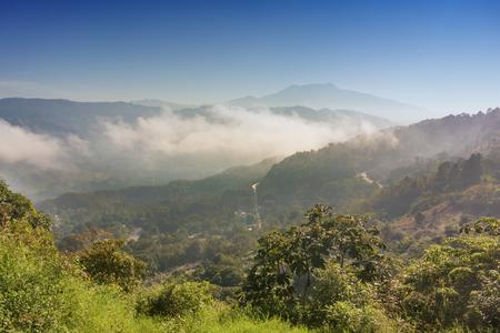 thru: The road thru the mountains in Copan district near San Juan de Opoa in Honduras Stock Photo