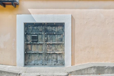 Architectural detail in picturesque colonial house in Antigua, Guatemala. Stock Photo