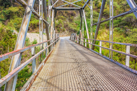 Bridge over the river Chixoy in the highland of Guatemala.