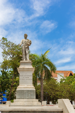 Cartagena, Colombia - March 26, 2017: After declaring independence from Spain in 1811, the United Provinces of New Granada was formed. Jose Fernandez Madrid was the head of the triumvirate and later the president of the new government. When the Spaniards