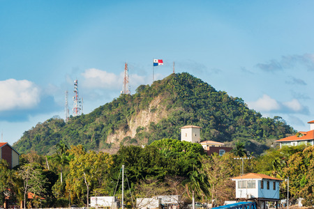 View at the Ancon Hill. It is a 654 foot hill that overlooks Panama City, Panama