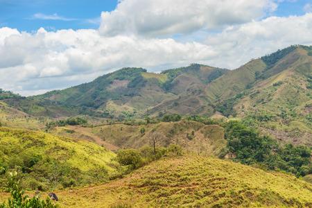 Panoramic landscape from interior in Azuero peninsula in Panama,