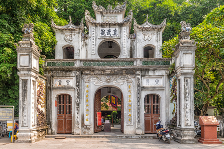 Entrance gate to the 11th century Quan Thanh Temple ( Tran Vu Temple), a Taoist temple in Hanoi, was dedicated to Xuan Wu, one of the well-respected deities in Taoism. It is served as one of four sacred temples in the capital.