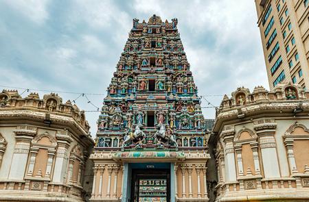 Roof of the Sri Maha Mariamman Temple in china town in Kuala Lumpur, Malaysia