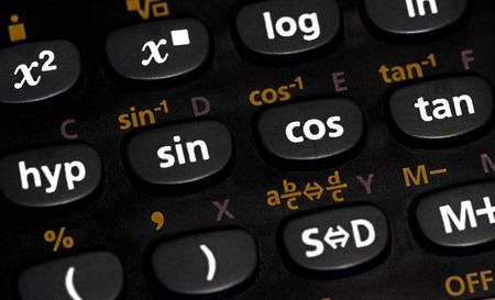 Closeup of a calculator Stock Photo