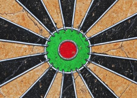 The centre of a dartboard Фото со стока