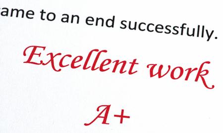 Excellent Work A+
