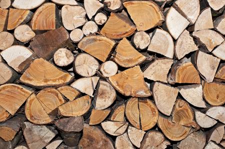 A pile of logs for the fire Фото со стока