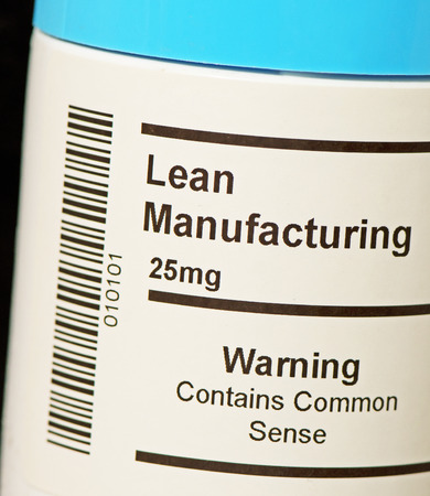 Lean Manufacturing: The popular business improvement concept Фото со стока