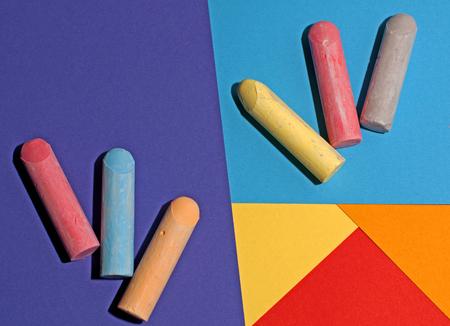 Coloured Chalk & Paper
