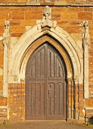 Closeup of a Church Door Фото со стока