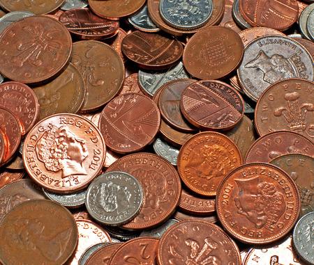 Closeup of Coins Фото со стока