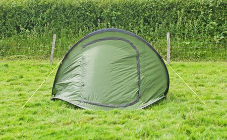 Green Camping Tent Фото со стока