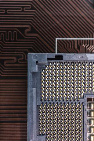 computer socket: Computer socket close up