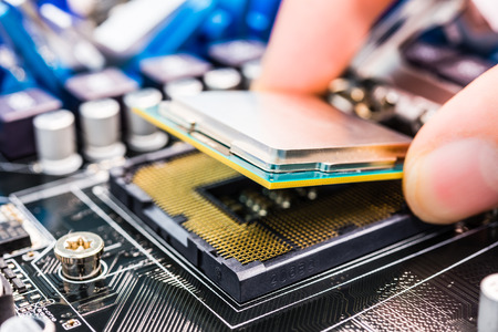 Installation of the processor on the system board