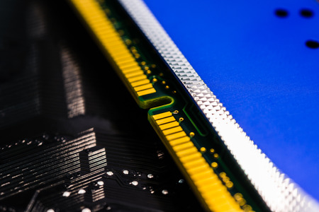 memory board: Memory on the system board Stock Photo