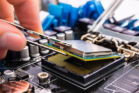 ツールを使用してコンピューターの修復 写真素材