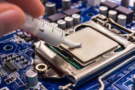 Thermal grease Stock Photo