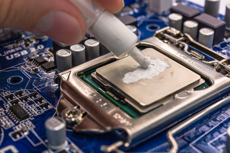 grease: Thermal grease Stock Photo