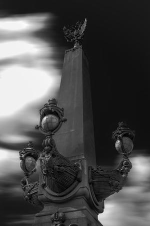 double headed: Lantern, long exposure
