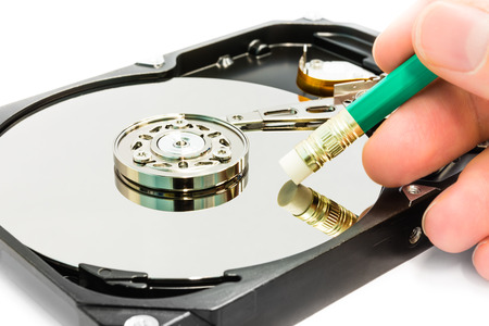 Delete data from hard disc drive photo