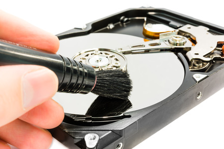 Cleaning the hard disc drive photo
