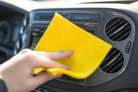 車のクリーニング 写真素材