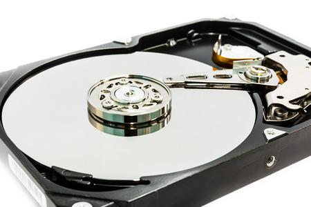 Hard disc drive close up photo
