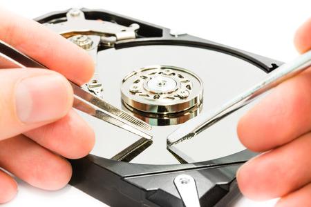 Repair the data photo