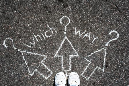 Which way? Standard-Bild