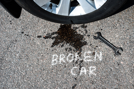 Broken car concept photo