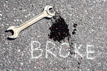 Broke, repair concept photo