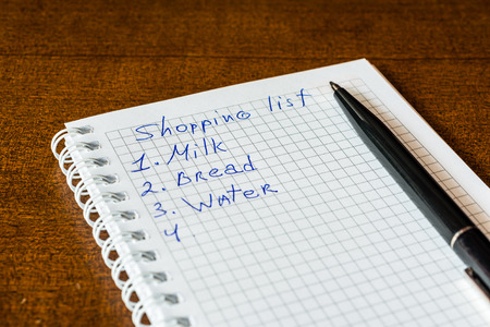 Create a shoping list for walk to the shop photo