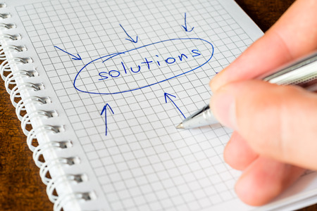 Write the all solutions in the notebook photo