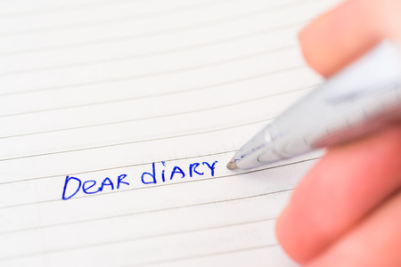 teenaged girls: To record in a diary Stock Photo