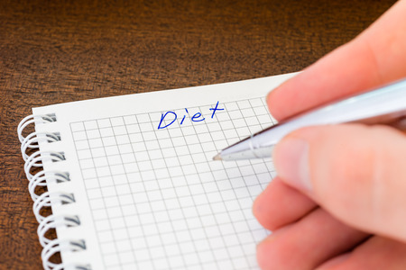 Planning the diet Stock Photo