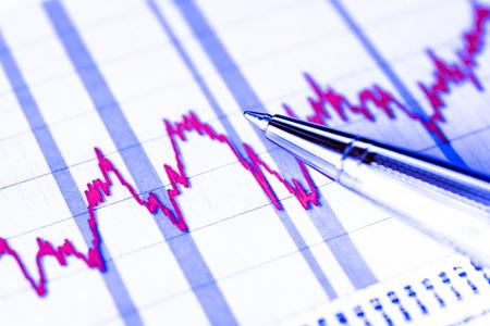 stock market crash: Stock graphic, stock market crash. In blue tones
