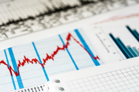 stock market crash: Stock market crash Stock Photo