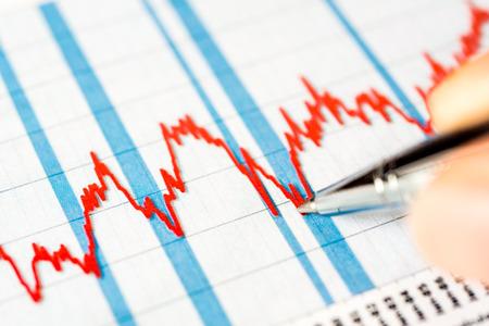 stock market crash: Stock graphic, stock market crash