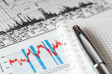Stock market, analysis of the market data Standard-Bild