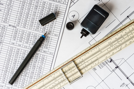 communications tools: Workplace of engineer, tools for sketching and plan of the communications