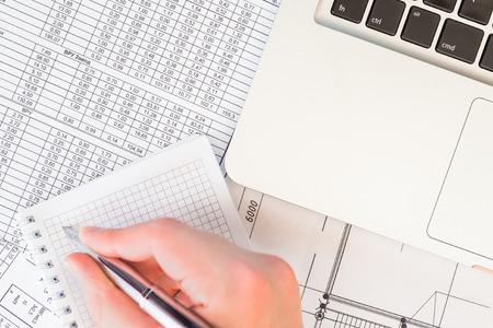 プロジェクトの財務諸表の作成 写真素材
