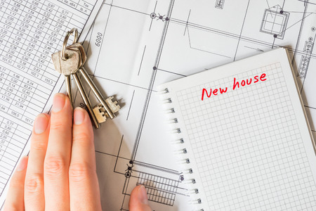 buying a home: Buying a home, take the keys from the house