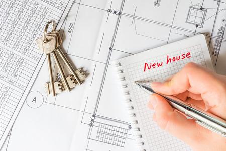 購入契約の署名、家を買う