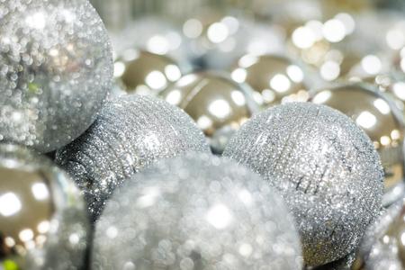 Christmas balls close up Stock Photo