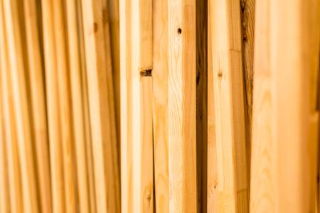 trading floor: Wooden racks