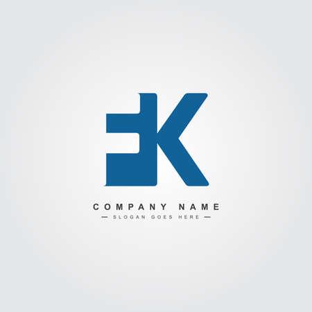 Initial Letter FK Logo - Simple Business Logo Logó