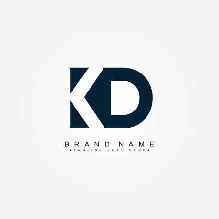 Initial Letter KD Logo - Minimal Business Logo