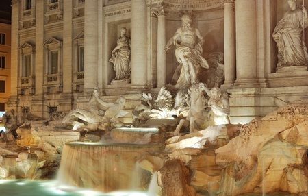 capita: The Trevi Fountain is the largest and one of the most famous fountains of Rome, and is unanimously considered one of the most famous fountains in the world Stock Photo